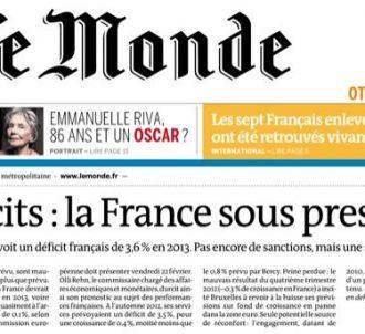 <span>Le journal 'Le Monde' a bouclé sa Une avant le...