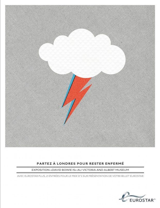 Eurostar rebondit sur l'exposition londonienne sur David Bowie.
