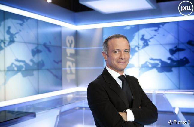 Samue Etienne, présentateur du 12/13 sur France 3.
