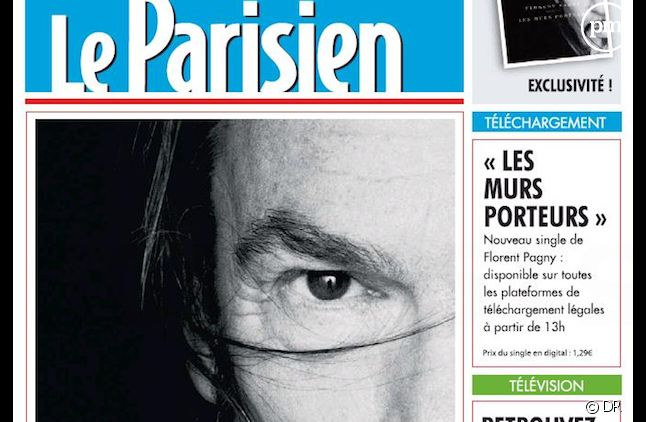"""Florent Pagny détourne la Une du """"Parisien"""""""