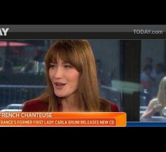 Carla Bruni sur le plateau de NBC mardi 25 juin 2013