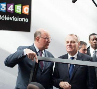 Le président de France Télévisions Rémy Pflimlin, et le...