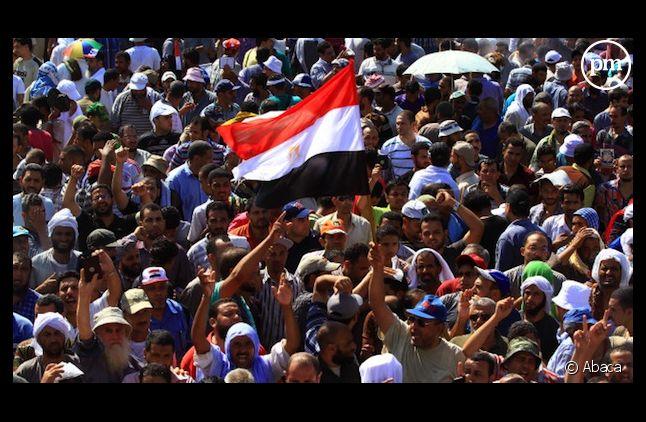 <span>Des supporters de Mohamed Morsi le 27 juillet dernier au Caire.</span>