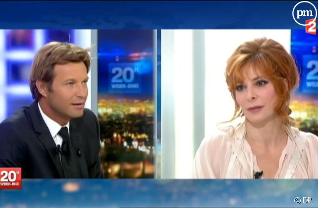 Mylène Farmer, dans le JT de Laurent Delahousse le 8 septembre 2013.