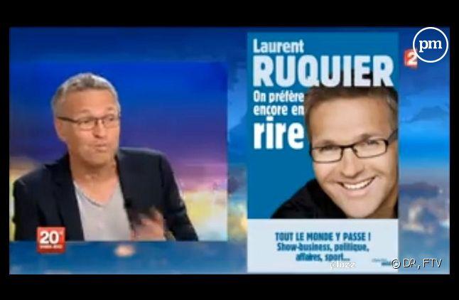 Capture d'écran du 20h de France 2 du 7 juillet 2013 avec Laurent Ruquier
