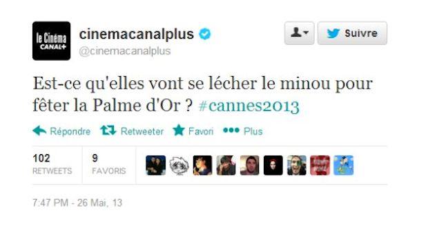 Le tweet polémique publié en mai dernier par le compte officiel de Canal+ Cinéma lors du dernier festival de Cannes