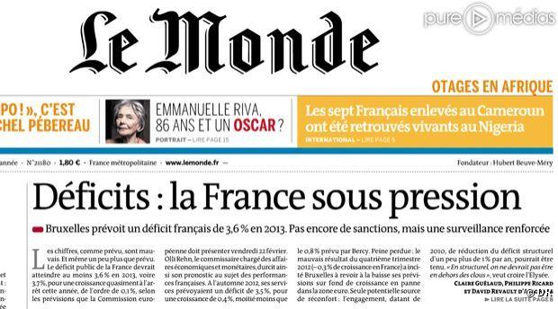 Le journal le monde a boucl sa une avant le d menti de la lib ra - Le journal de francois ...