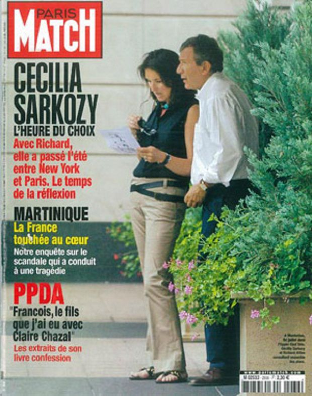 La Une de <em>Paris Match</em> sur Cécilia et Richard Attias