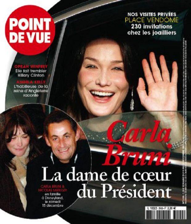 La Une de <em>Point de Vue</em> sur Nicolas Sarkozy et Carla Bruni