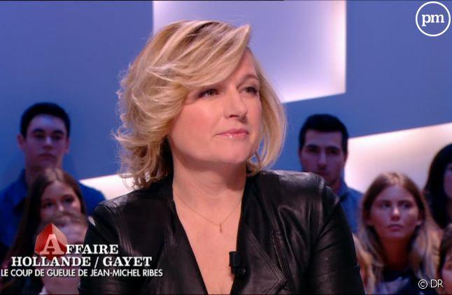 """Anne-Elisabeth Lemoine dans """"Le Grand Journal"""", le 17 janvier 2014."""