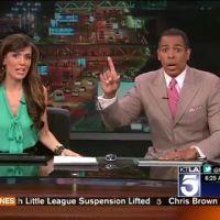 Un tremblement de terre en direct sur une chaîne américaine