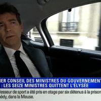 Premier Conseil des ministres : BFMTV s'invite dans la voiture d'Arnaud Montebourg