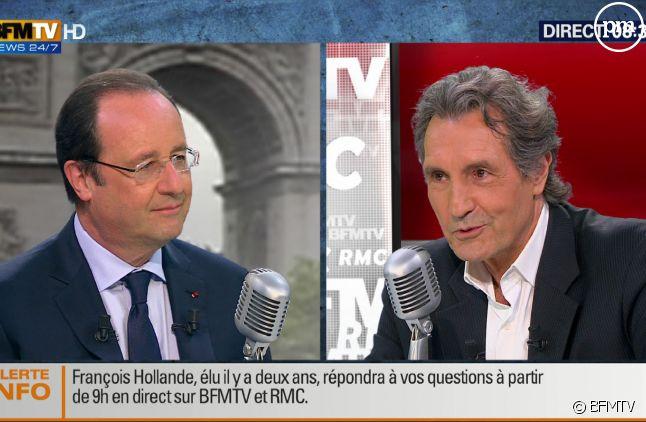 François Hollande face à Jean-Jacques Bourdin.