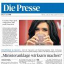 """La Une du quotidien autrichien """"Die Presse"""""""
