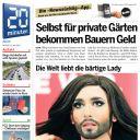 """Conchita Wurst à la Une de l'édition  zurichoise de """"20 Minutes"""""""