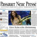 """Conchita Wurst à la Une des journaux régionaux allemands """"Passauer Neue Presse"""""""