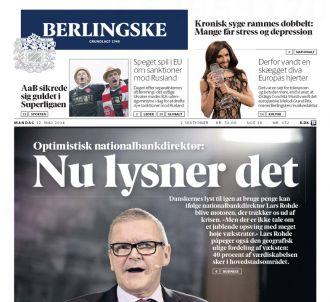 Deux pages dans le danois 'Berlingske'