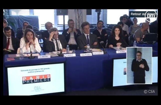 Audition de l'état-major de Paris Première (Capture CSA)