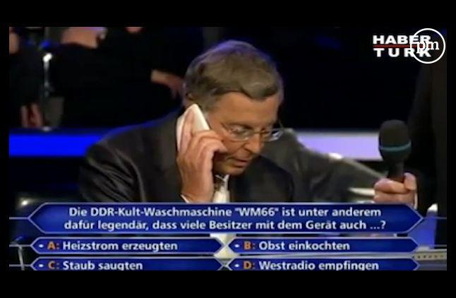 "Angela Merkel, joker du ""Qui veut gagner des millions ?"" allemand"