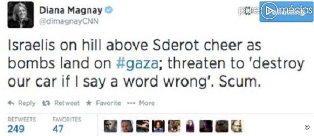 Le tweet supprimé de Diana Magnay
