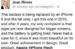 Quinze jours après sa mort, Joan Rivers fait la pub de l'iPhone 6 sur Facebook
