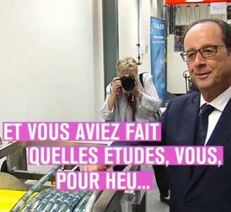 François Hollande dans 'Le Petit Journal' sur Canal+