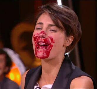 Alessandra Sublet entartée dans 'Un soir à la Tour...