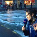 Fanny Agostini, la chute sur BFMTV, le 20 février.