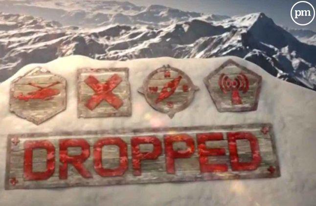 """Le logo du jeu d'aventures """"Dropped"""""""