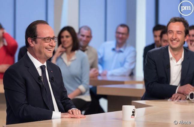 """François Hollande hier sur le plateau du """"Supplément"""""""
