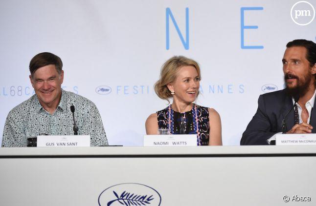 Gus Van Sant, Naomi Watts et Matthew McConaughey hier à Cannes