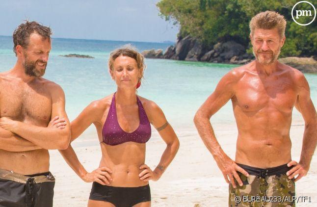 "Marc, Chantal et Bruno dans ""Koh-Lanta"" 2015"