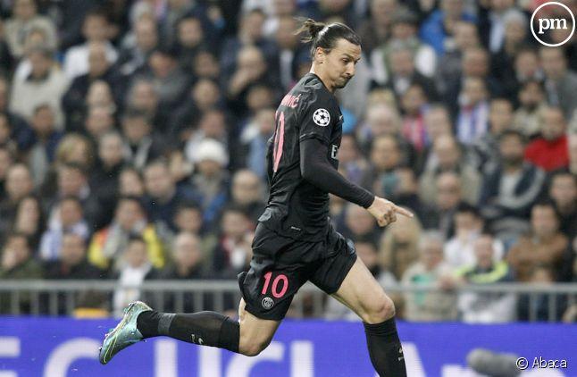 <span>Zlatan Ibrahimovic, mardi, lors de Real Madrid/PSG</span>