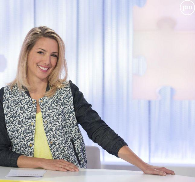 """Sidonie Bonnec présente """"Les Maternelles"""" sur France 5."""