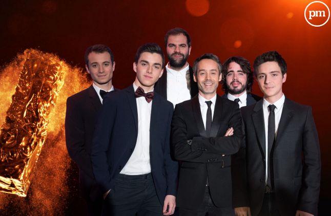 """L'équipe du """"Petit Journal"""" aux César."""