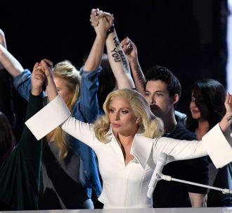 Lady Gaga lors des Oscars 2016.