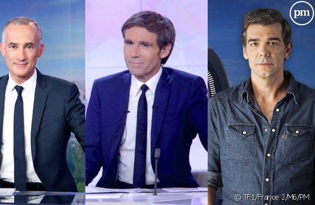 Gilles Bouleau, David Pujadas et Xavier De Moulins