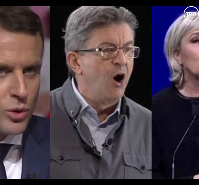 Macron, Mélenchon et Le Pen ce week-end à Lyon.