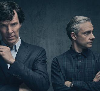 Benedict Cumberbatch et Martin Freeman dans 'Sherlock'
