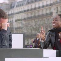 Mouloud Achour pris d'un fou rire dans