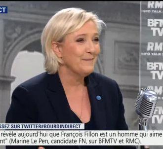 Marine Le Pen, sur RMC et BFMTV.