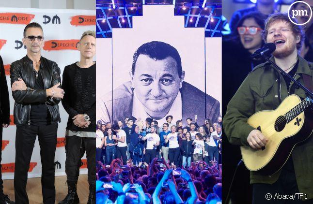 Depeche Mode, les Enfoirés et Ed Sheeran