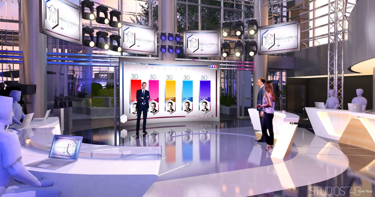 Decoration Plateau Tele : Premier tour de la présidentielle découvrez le nouveau