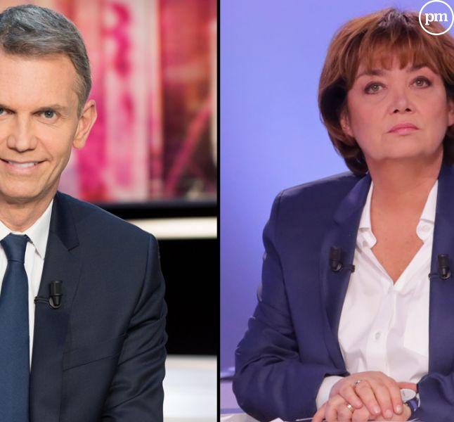 Christophe Jakubyszyn et Nathalie Saint-Cricq, un duo surprise pour arbitrer le débat de l'entre-deux tours.