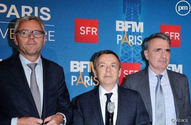 Michel Combes, Alain Weill, <span>Michel Paulin et Patrick Drahi </span>