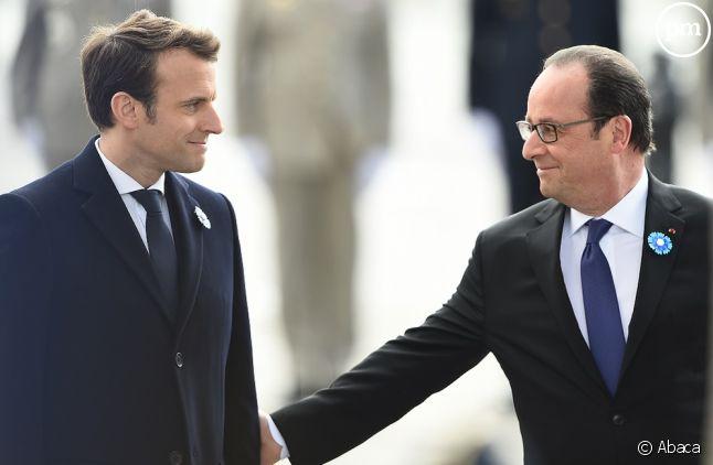 Passation de pouvoir entre Emmanuel Macron et François Hollande
