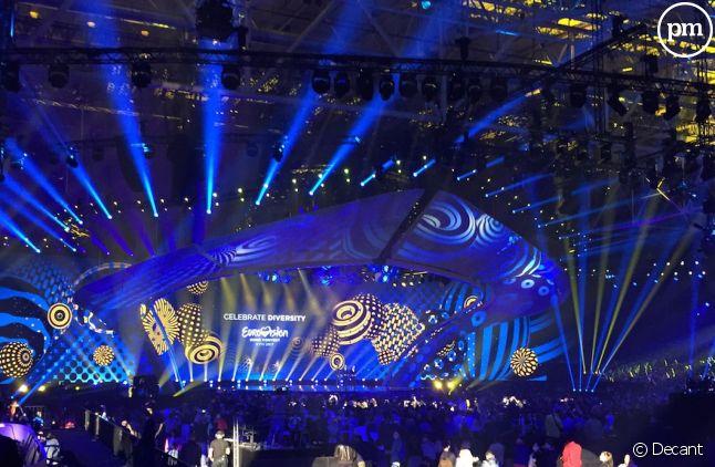 La scène de l'Eurovision 2017 à Kiev