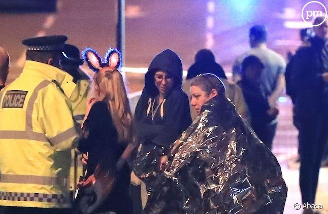 Les forces de police à Manchester après l'attentat