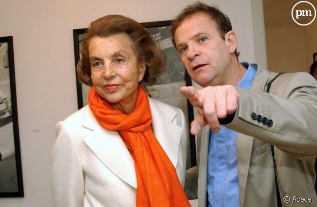 Liliane Bettencourt et François-Marie Banier.