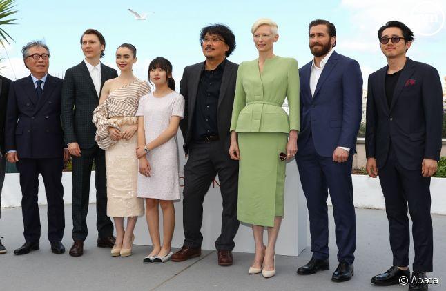"""L'équipe de """"Okja"""" le 19 mai 2017 (Cannes)"""